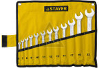 Набор ключей STAYER 27081-H12 (6 - 22 мм)