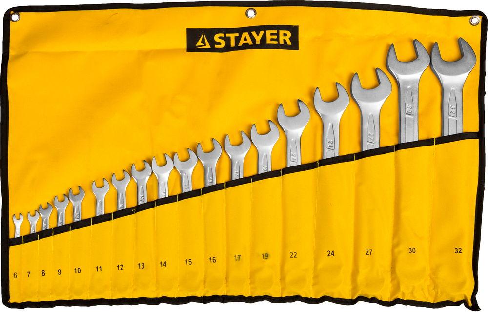 цены Набор ключей Stayer 27081-h18 (6 - 32 мм)