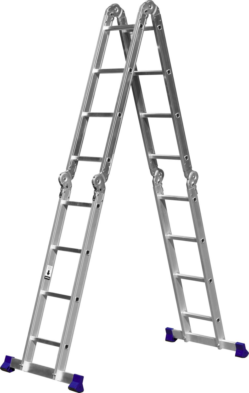 Фото - Лестница СИБИН 38852 лестница трансформер шарнирная профи 4 секции по 4 ступени 1 алюмет