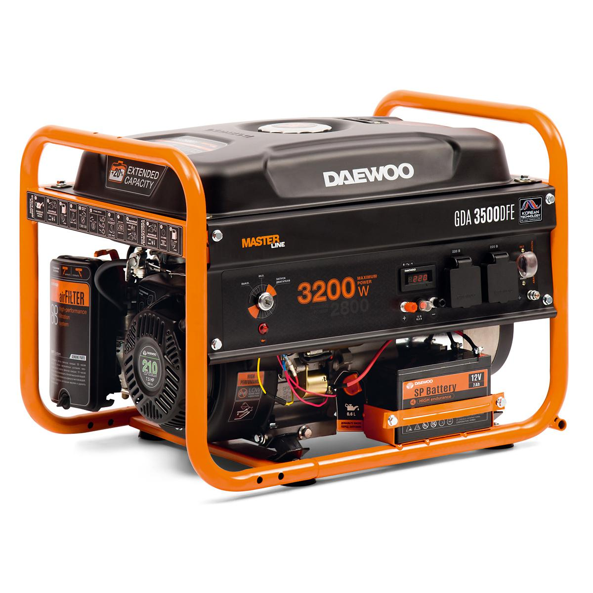 Генератор Daewoo Gda 3500 dfe бензиновый генератор daewoo gda 4800i