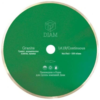 Круг алмазный Diam Ф180x25.4мм 1a1r granite 1.6x7мм