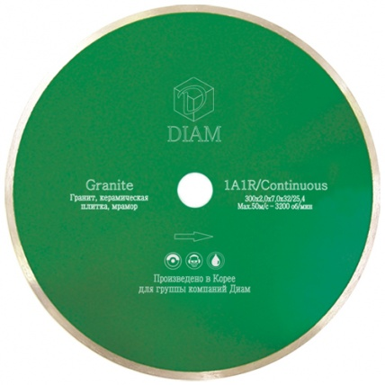 Круг алмазный Diam Ф350x32/25.4мм 1a1r granite 2.0x7мм diam 1a1r 250 1 6 7 5 25 4 круг алмазный гранитэлит 000202
