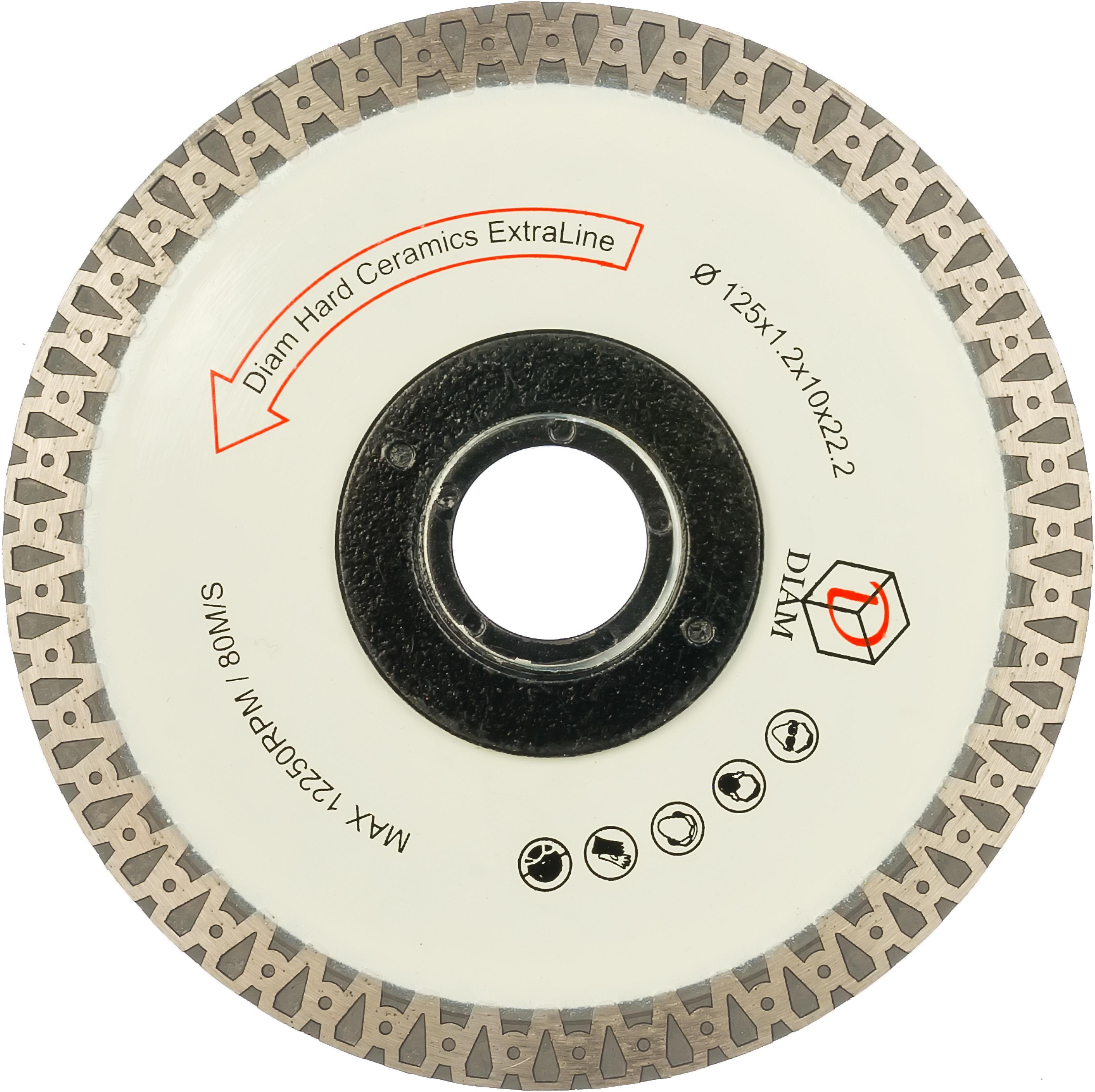 Круг алмазный Diam Ф125x22мм hard ceramics extra line 1.2x10мм цены