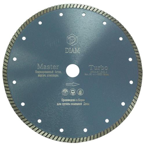 Круг алмазный Diam Ф125x22мм master 2.0x7.5мм диск алмазный diam 230х22 2мм master турбо 000161