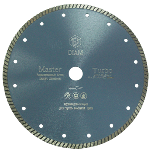 Круг алмазный Diam Ф180x22мм master 2.2x7.5мм круг алмазный практика 030 740 da 180 22t 180 х 22 турбо