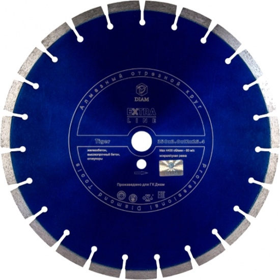 Круг алмазный Diam Ф450x25.4мм tiger extra line 3.4x12 мм диск алмазный diam 150х22 2мм master турбо 000160