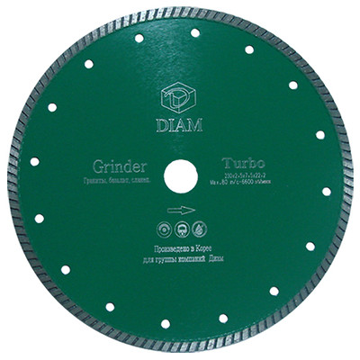 Круг алмазный Diam Ф150x22мм turbo grinder 2.2x10мм алмазный диск универсального реза turbo центроинструмент 23 2 22 150