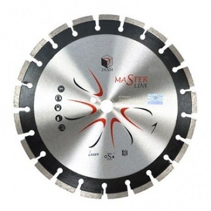 Круг алмазный Diam Ф600x25.4мм master line 4.0x10мм диск алмазный diam 230х22 2мм master турбо 000161