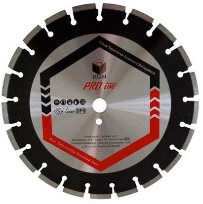 Круг алмазный Diam Ф500x25.4мм pro line 3.6x10мм диск алмазный champion асфальт pro 300 25 4 10 asphafight