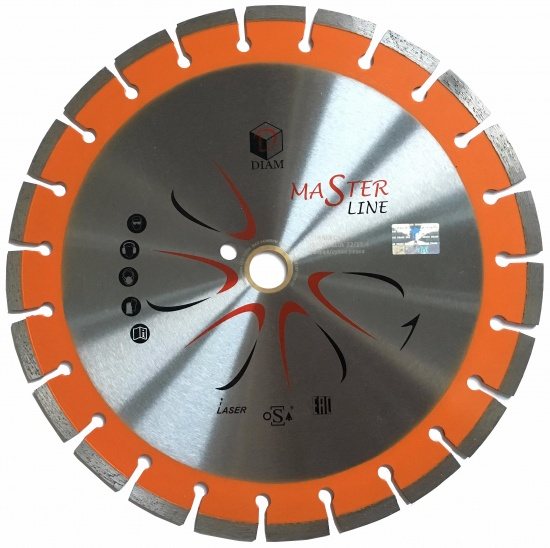 Круг алмазный Diam Ф230x22мм master line 2.4x10мм диск алмазный diam 230х22 2мм master турбо 000161