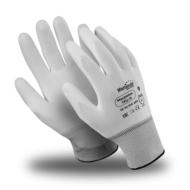 Фото - Перчатки МАНИПУЛА нейлон/полиуретан перчатки манипула антистатик нейлоновые антистатические белые без пвх