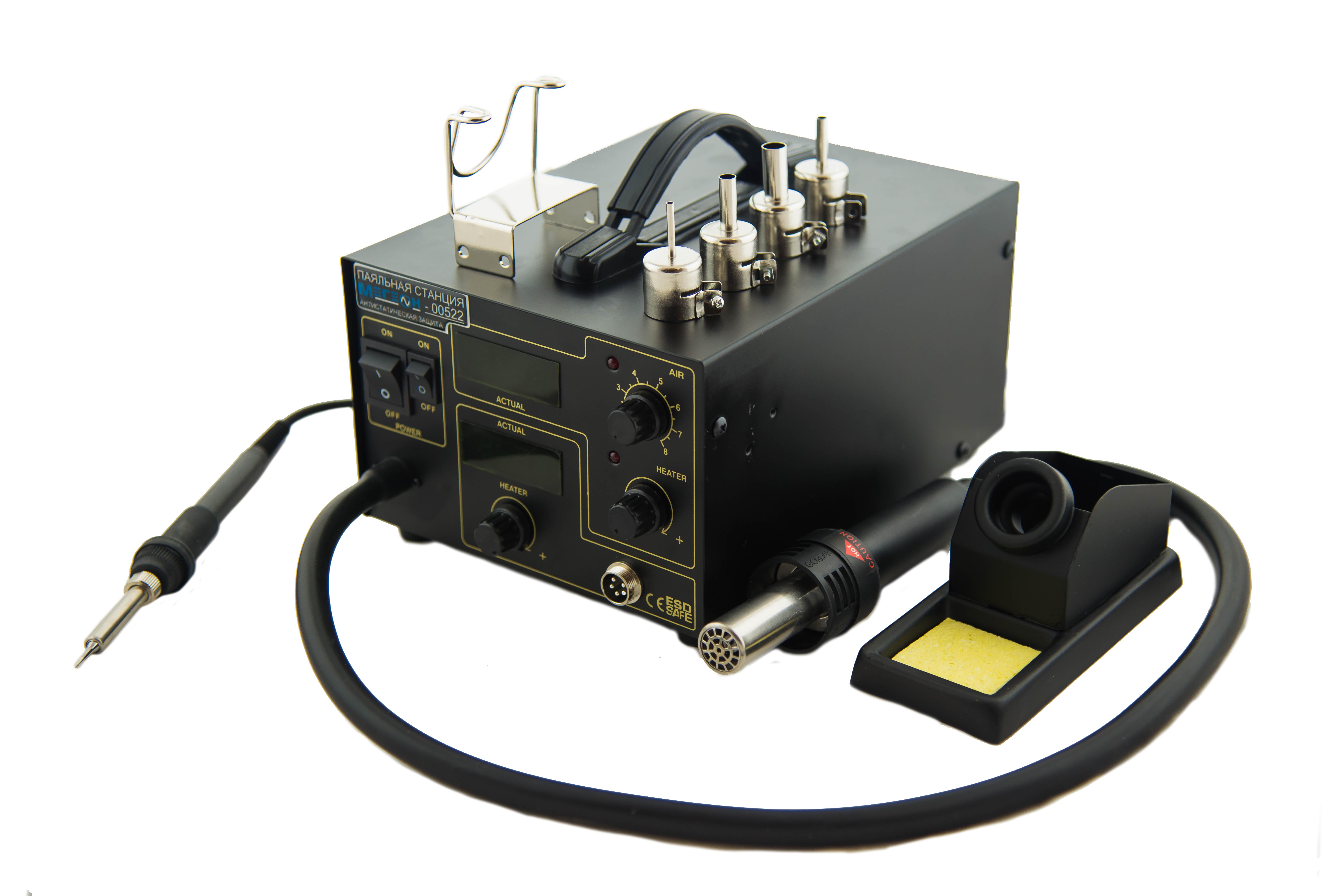 Паяльная станция МЕГЕОН 00522 станция паяльная ремонтная smd термовоздушная мегеон 00580