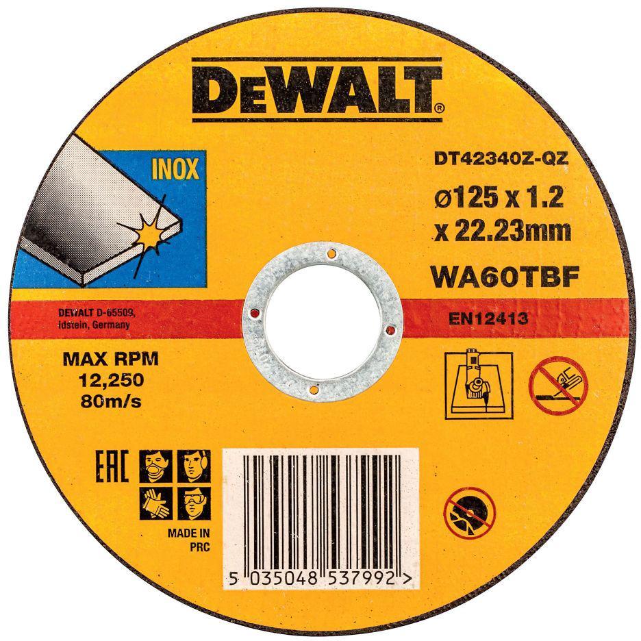 Круг отрезной Dewalt 125х1.2х22 dt42340zqz dewalt d28493