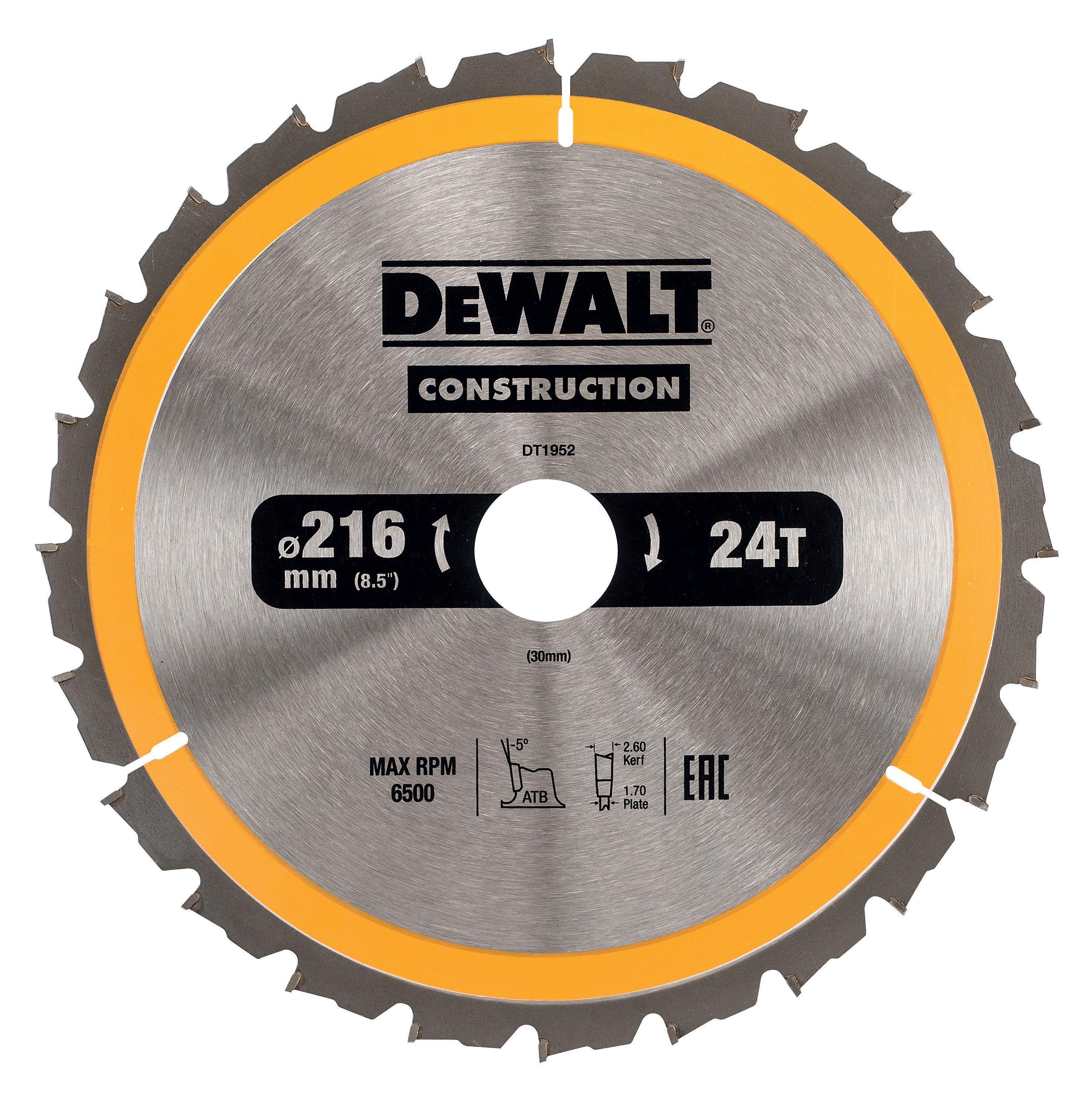 Диск пильный твердосплавный Dewalt Dt1952qz