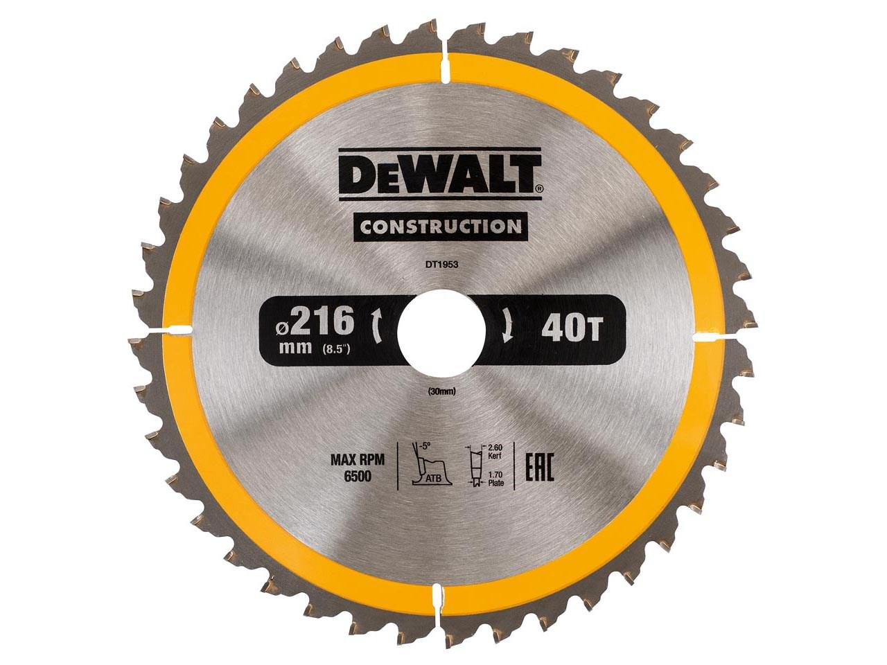 Диск пильный твердосплавный Dewalt Dt1953qz диск пильный по дереву 184х16 мм z40 dewalt dt 10303