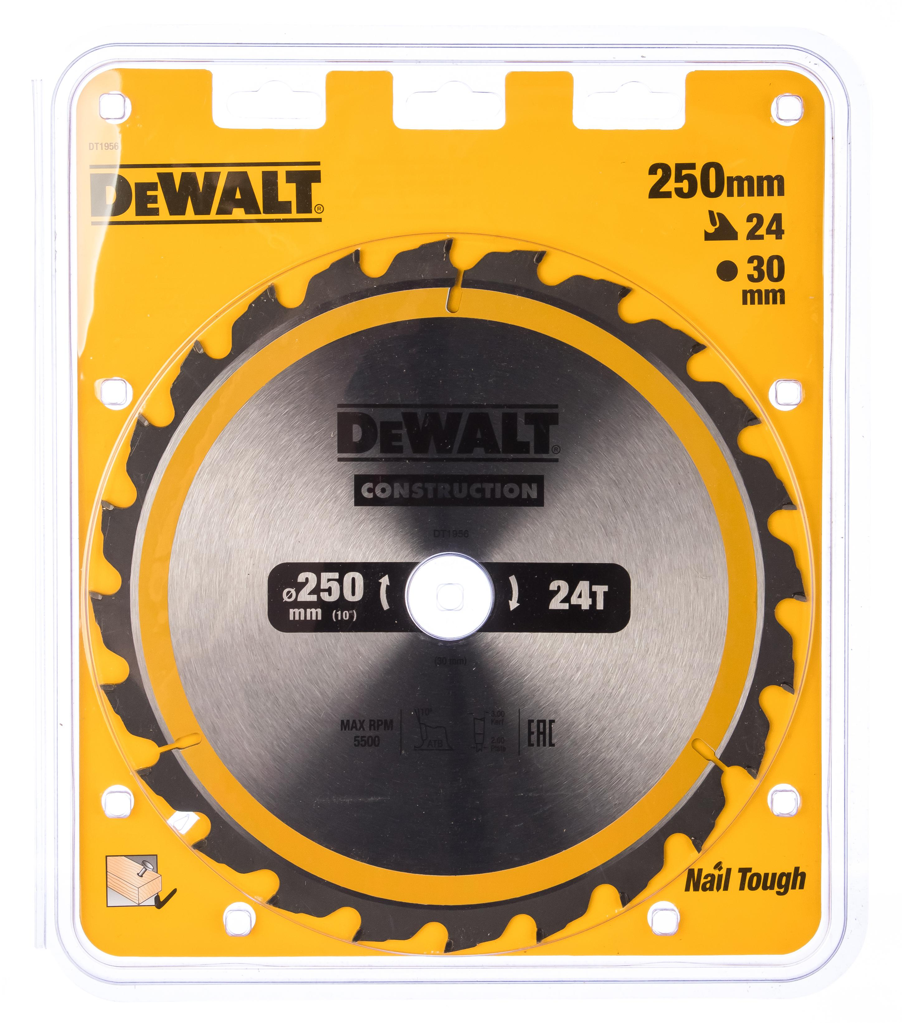 Диск пильный твердосплавный Dewalt Dt1956qz диск пильный по дереву 184х16 мм z40 dewalt dt 10303