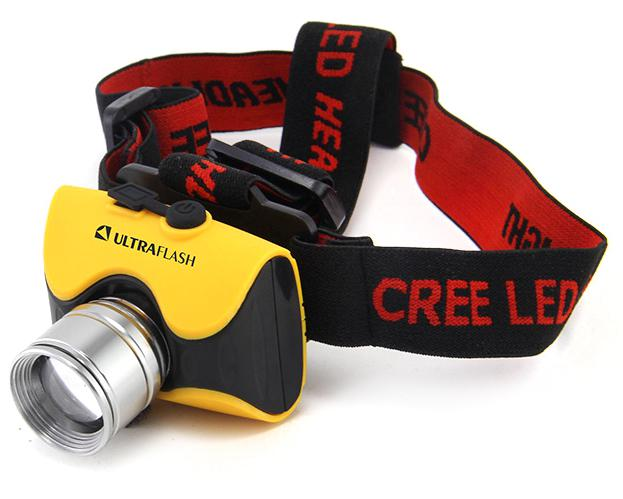 Фонарь Ultraflash E157 фонарь ultraflash e157 налоб аккум 220в желтый cree 3 ватт фокус 3 реж пласт бокс