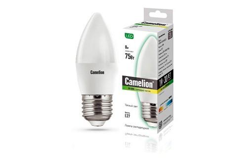Лампа светодиодная Camelion Led8-c35/830/e27