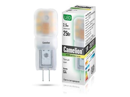 Лампа светодиодная Camelion Led2.5-jd-sl/830/g4 цоколь лампы led g4 10pcs lot g4 g4 lampcrystal 163