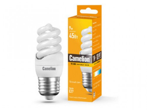 Лампа энергосберегающая Camelion Lh9-fs-t2-m/827/e27