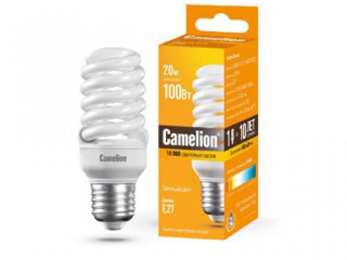 Лампа энергосберегающая Camelion Lh20-fs-t2-m/827/e27 энергосберегающая лампа 11вт camelion lh11 fs t2 m 842 e27 10583