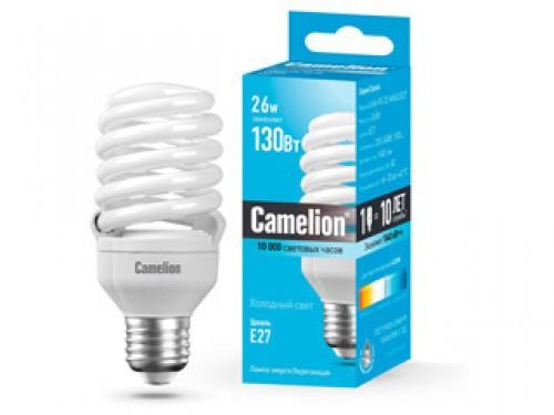 Лампа энергосберегающая Camelion Lh26-fs-t2-m/842/e27