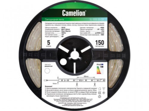 Лента светодиодная Camelion Sl-5050-30-c01w camelion sl 5050 30 c99 светодиодная лента 5 м rgb