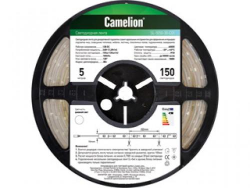 Лента светодиодная Camelion Sl-5050-60-c01w camelion sl 5050 30 c99 светодиодная лента 5 м rgb