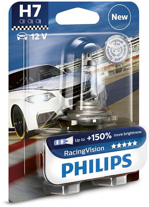 цена на Лампа автомобильная Philips H7 12v- 55w (px26d) racing vision