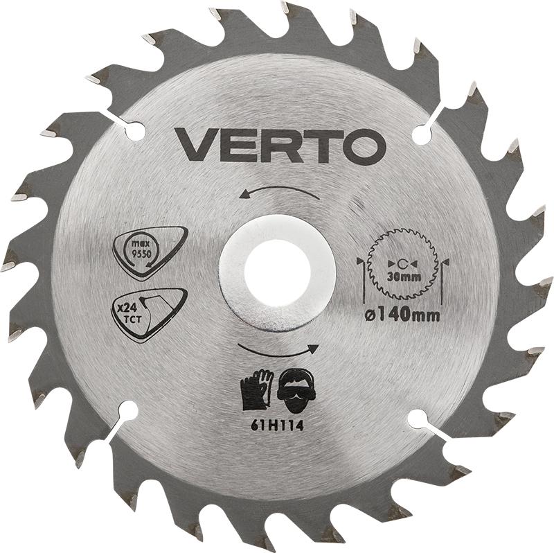 Диск пильный твердосплавный Verto 61h124