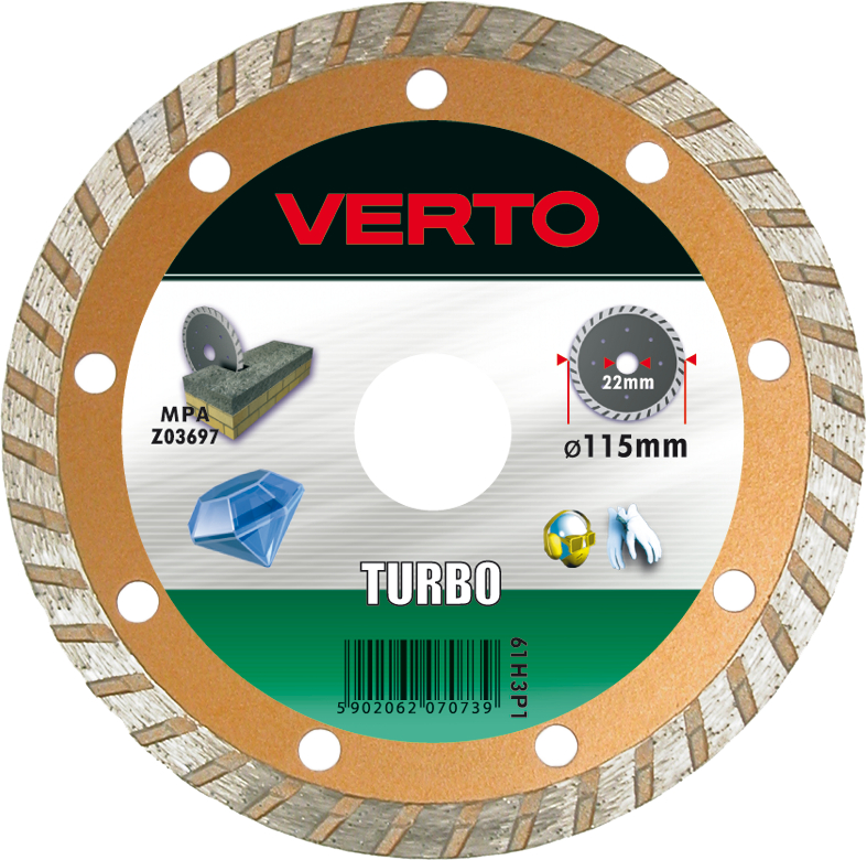 Круг алмазный Verto 61h3p1 диск алмазный diam 150х22 2мм master турбо 000160