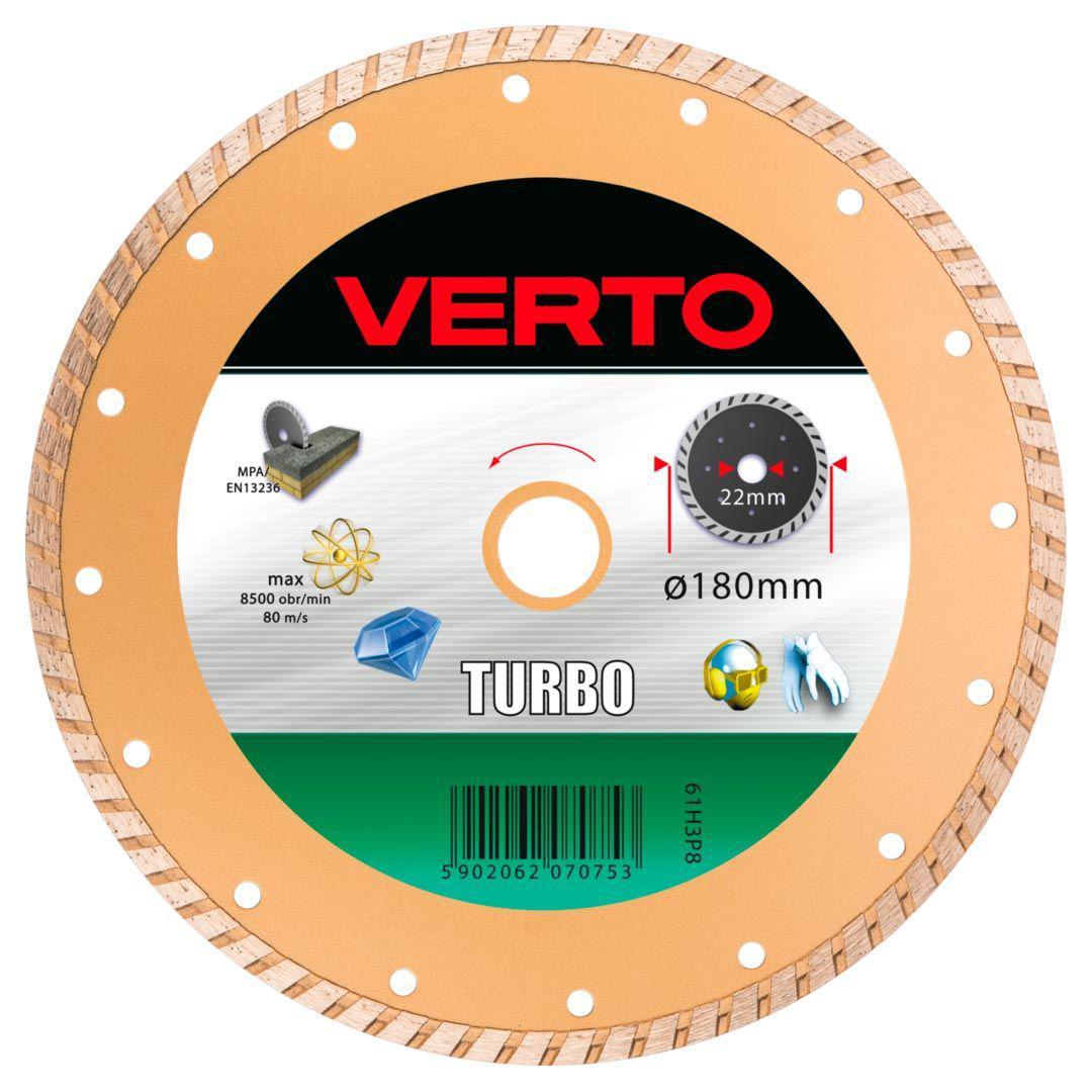 Круг алмазный Verto 61h3p8 диск алмазный diam 150х22 2мм master турбо 000160