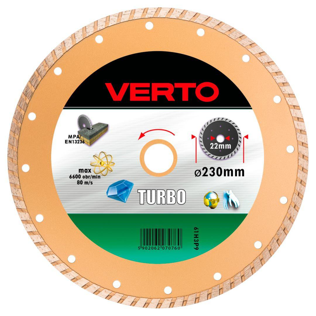 Круг алмазный Verto 61h3p9 диск алмазный diam 150х22 2мм master турбо 000160
