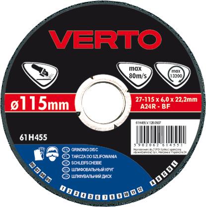 Круг зачистной Verto 115х6х22мм