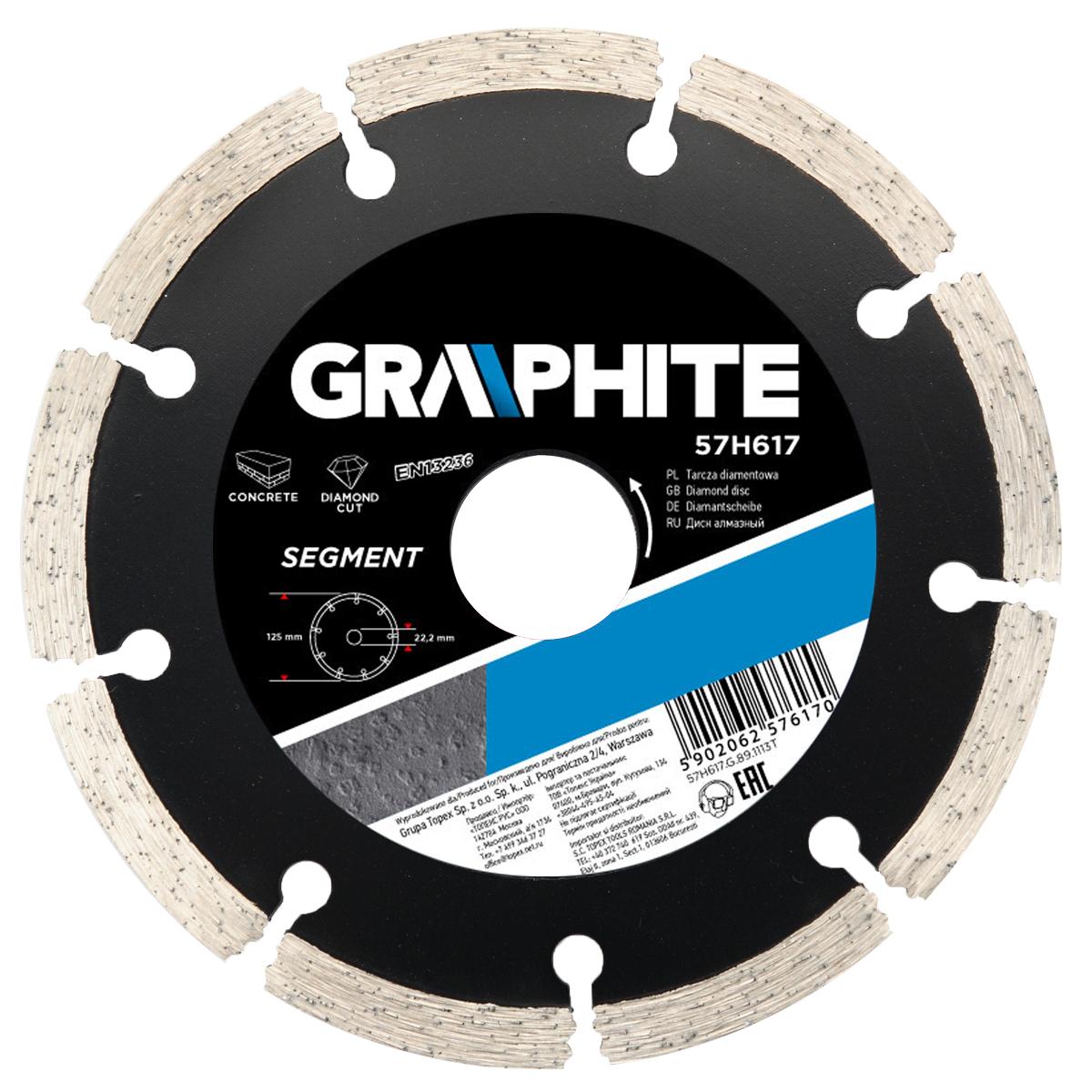 Круг алмазный Graphite 57h619