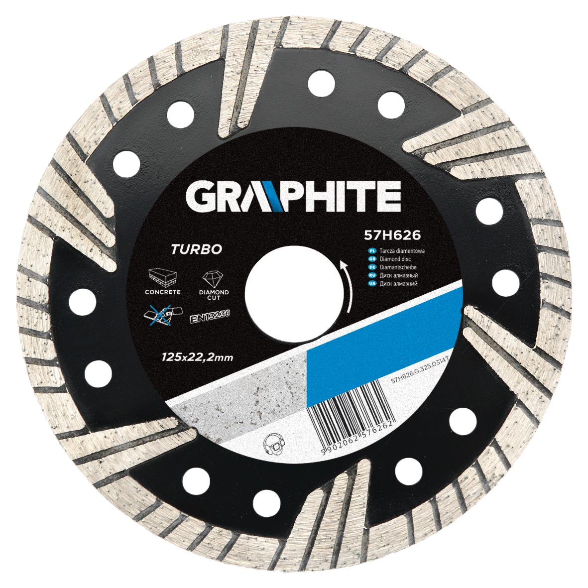 Круг алмазный Graphite 57h628 диск алмазный diam 150х22 2мм master турбо 000160