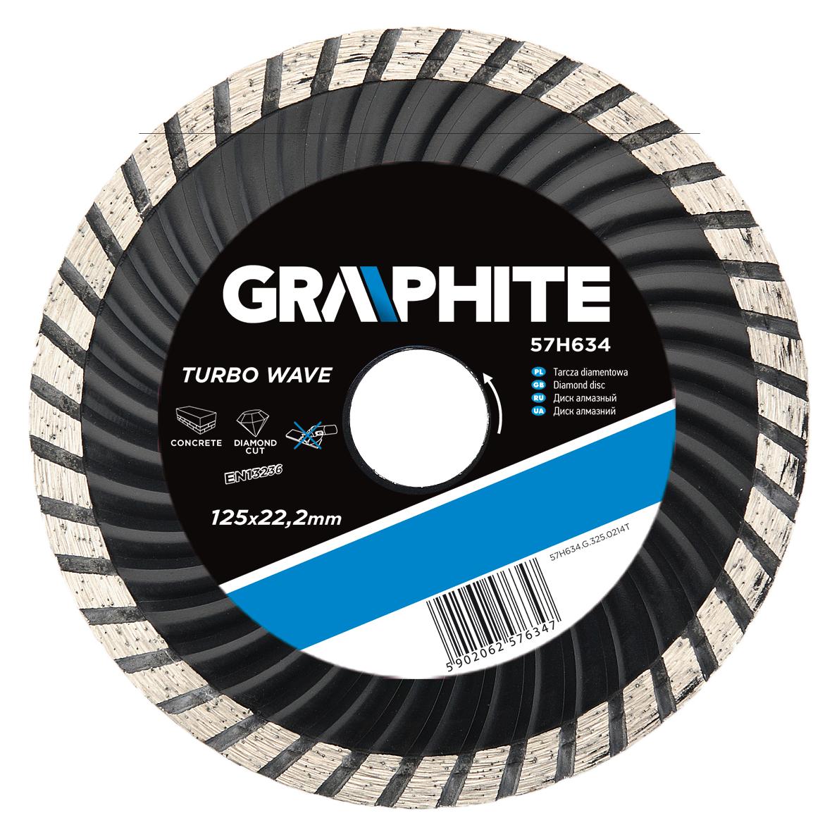 Круг алмазный Graphite 57h636 диск алмазный diam 150х22 2мм master турбо 000160