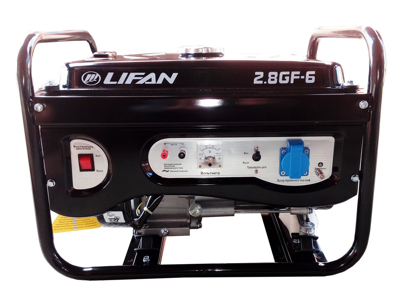 Генератор Lifan 2.8gf-6 двигатель lifan 168f 2l