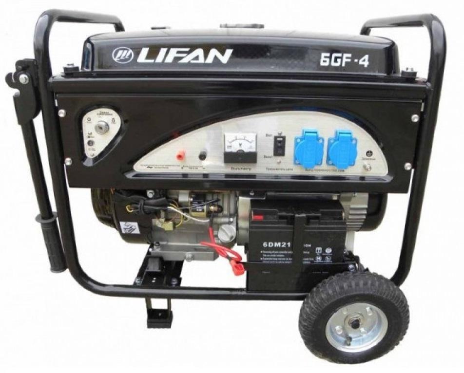 Генератор Lifan 6gf-4 двигатель lifan 168f 2l