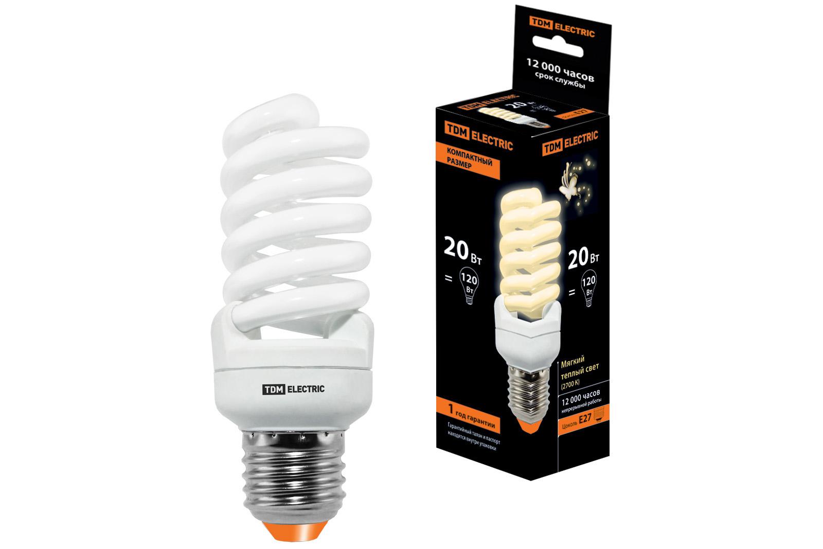 Лампа энергосберегающая Tdm Sq0323-0192