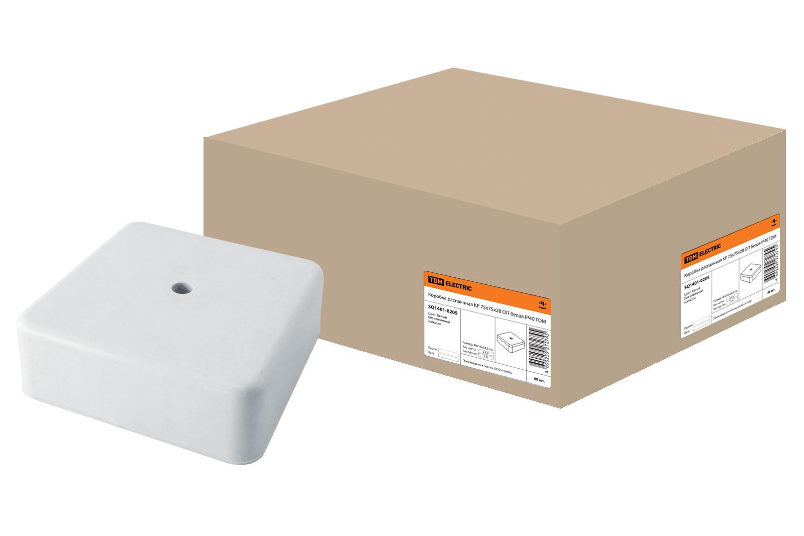 Коробка распаячная Tdm Sq1401-0205 коробка распаячная тдм sq1402 1008 120х92х45мм крышка ip20
