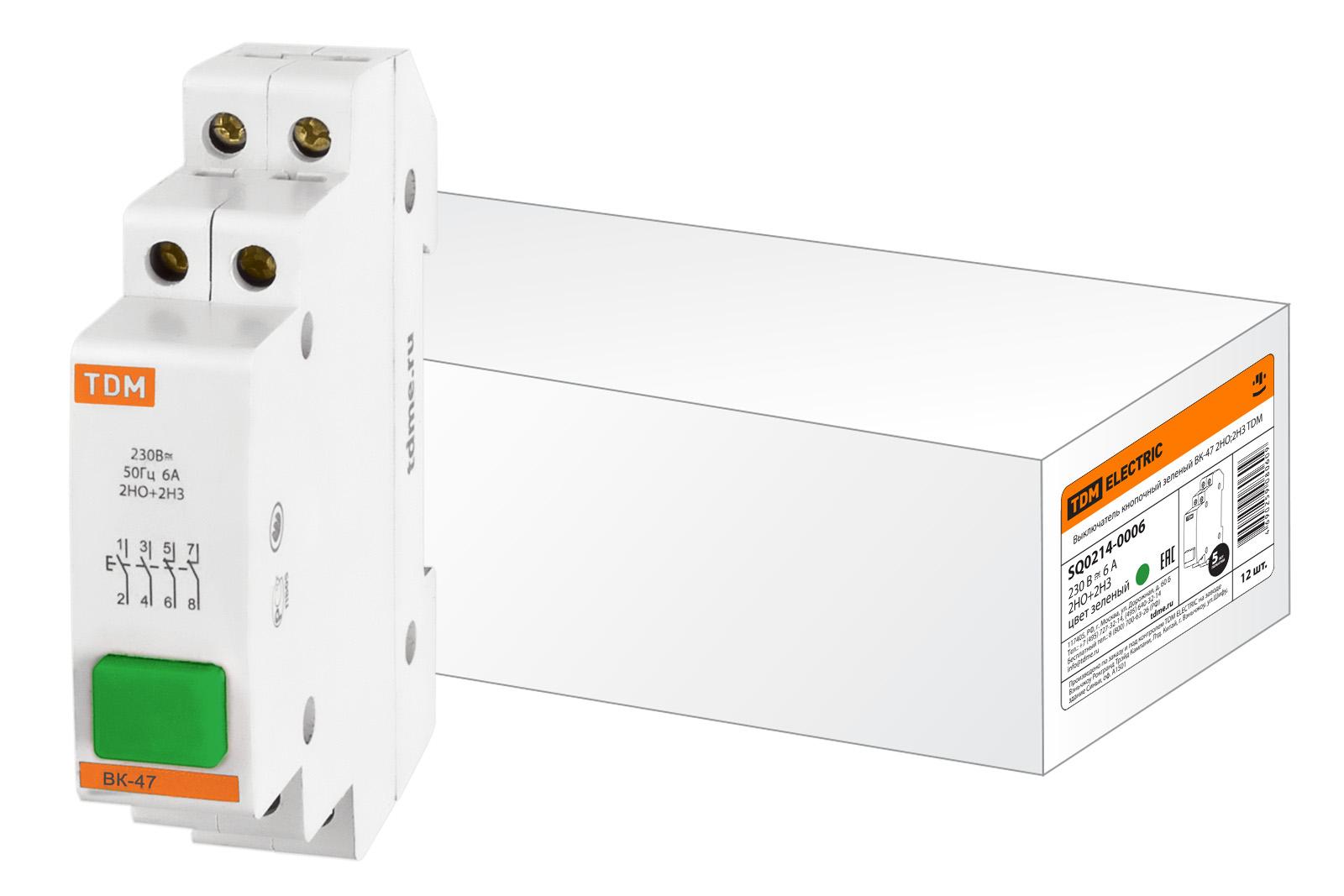 Выключатель Tdm Sq0214-0006 сигнальная лампа зеленая tdm лс 47 led ac dc sq0214 0009