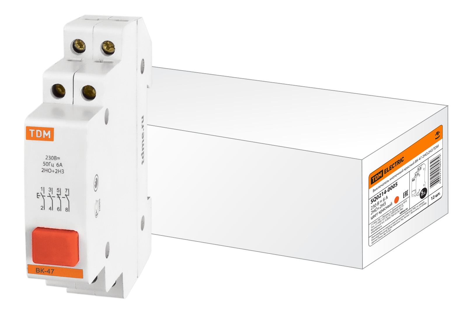 Выключатель Tdm Sq0214-0005 сигнальная лампа зеленая tdm лс 47 led ac dc sq0214 0009