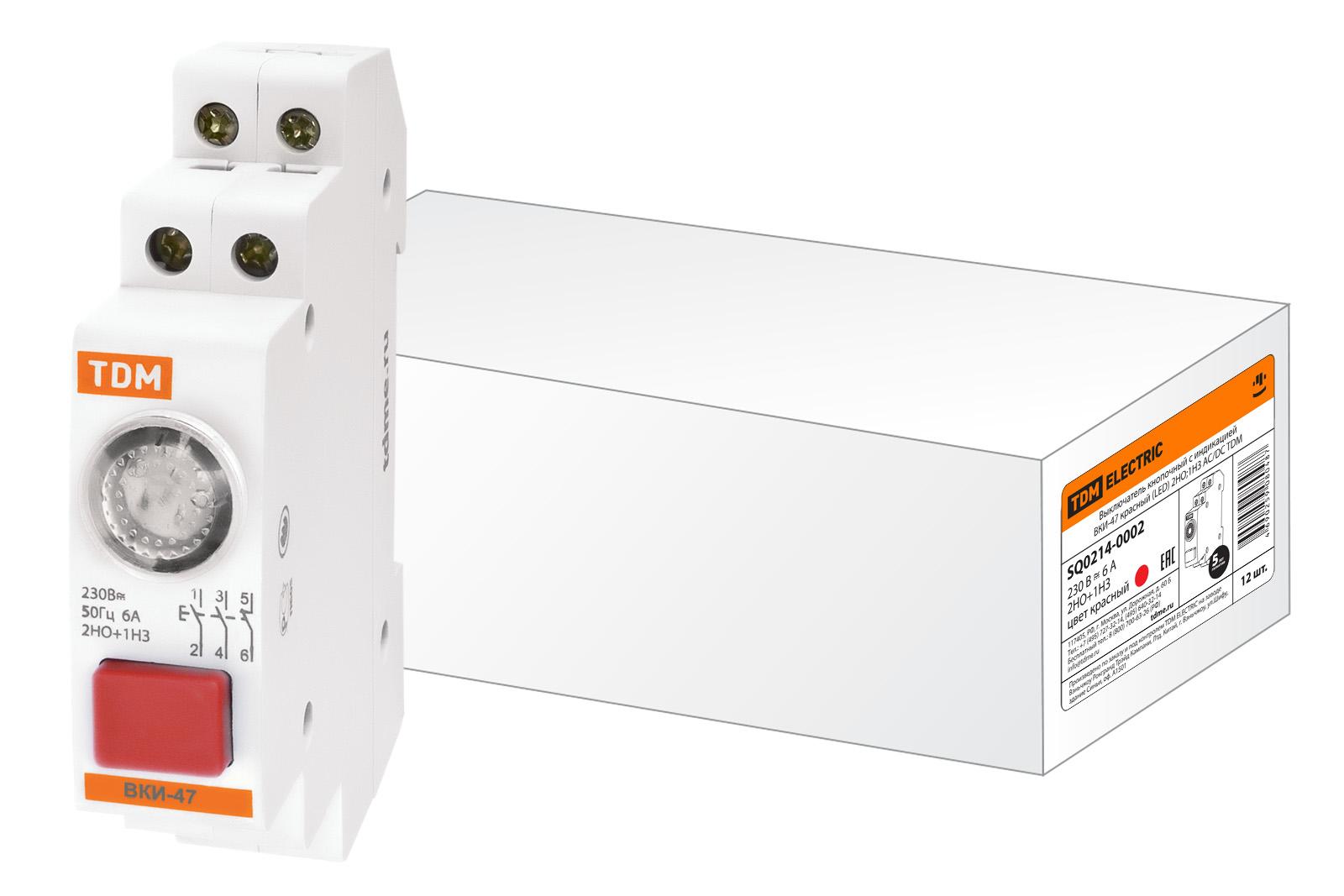 Выключатель Tdm Sq0214-0002 сигнальная лампа зеленая tdm лс 47 led ac dc sq0214 0009