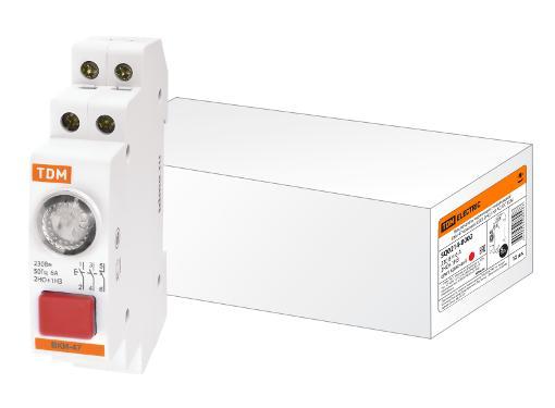 Выключатель кнопочный с индикацией вки-47 красный led 2но 1нз ac/dc TDM SQ0214-0002