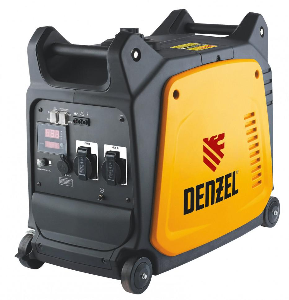 Генератор Denzel Gt-3500i генератор инверторный denzel gt 2100i x pro