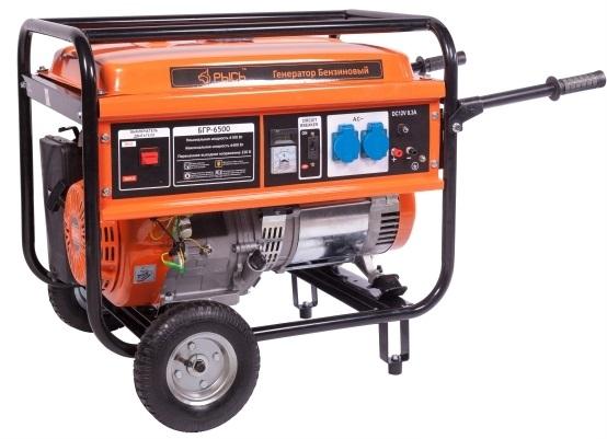 Бензиновый генератор РЫСЬ БГР 6500 генератор бензиновый bort bbg 6500