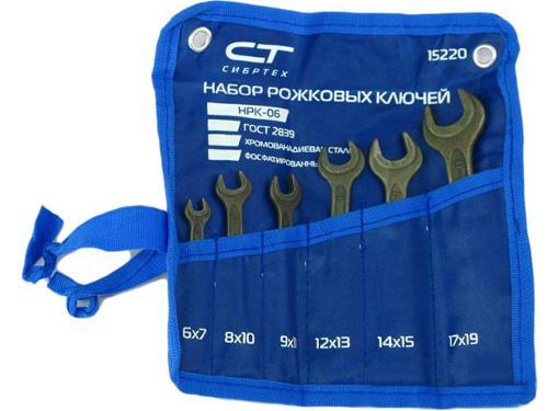 Ключ гаечный СИБРТЕХ 15220 (6 - 19 мм)