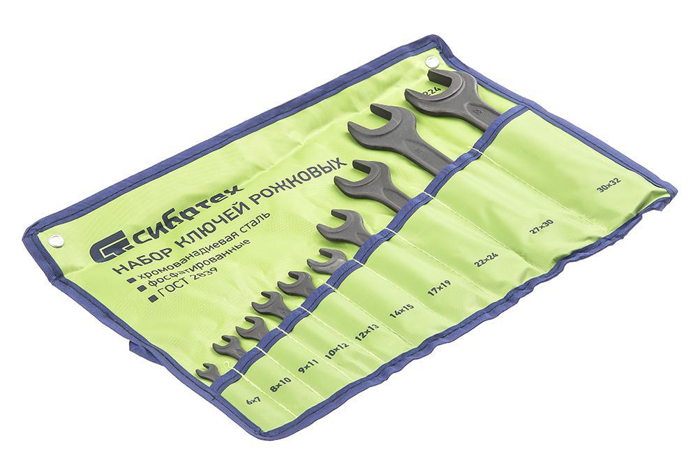Набор ключей СИБРТЕХ 15224 (6 - 32 мм) набор ключей сибртех 15220 6 19 мм