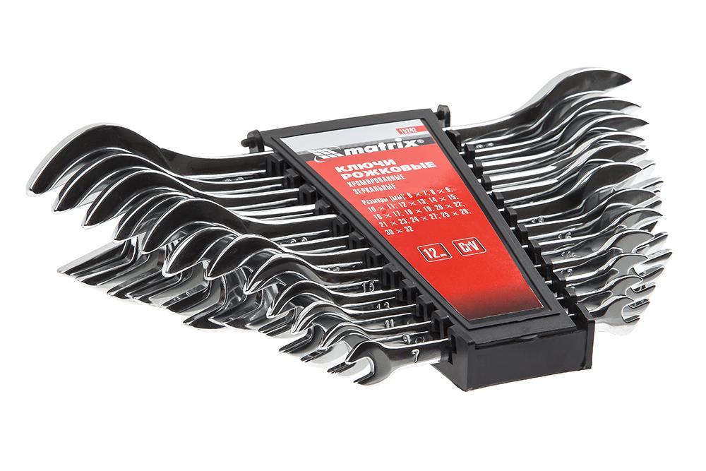 Набор ключей Matrix 15242 (6 - 32 мм) набор рожковых ключей 12 шт matrix master 15242